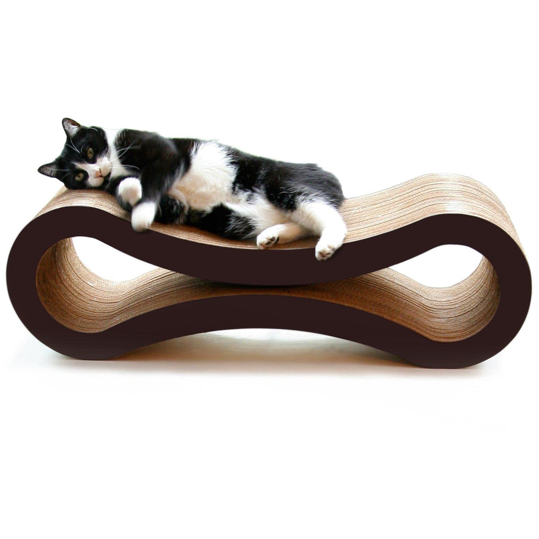 Infinity loop cat scratcher