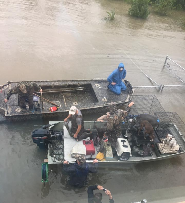 Boat Rescue from Hurricane Harvey